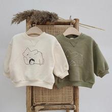 Baby Boys Sweatshirt Hoodies Of Girl Baby Infant Clothing Newborn Bear Print Long Sleeve Tops Sweatshirts Toddler Hoodie