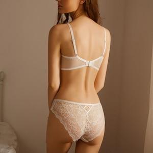Image 3 - TERMEZY Classic Bandage Lingerie Push Up Bra Set Lace Underwear Set Sexy Transparent Brassiere Large size Women underwear