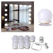 LED 12V مرآة لوضع مساحيق التجميل ضوء لمبة هوليوود الغرور أضواء ستبليس عكس الضوء الجدار مصباح 6 10 14 لمبات عدة ل خلع الملابس الجدول