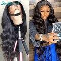 Rosabeauty перуанские объемные волнистые длинные 13х4 кружевные передние человеческие волосы парики для черных женщин кружевные передние al пари...
