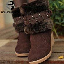 Bonjomarisa/Лидер продаж; Милые женские сапоги с украшением