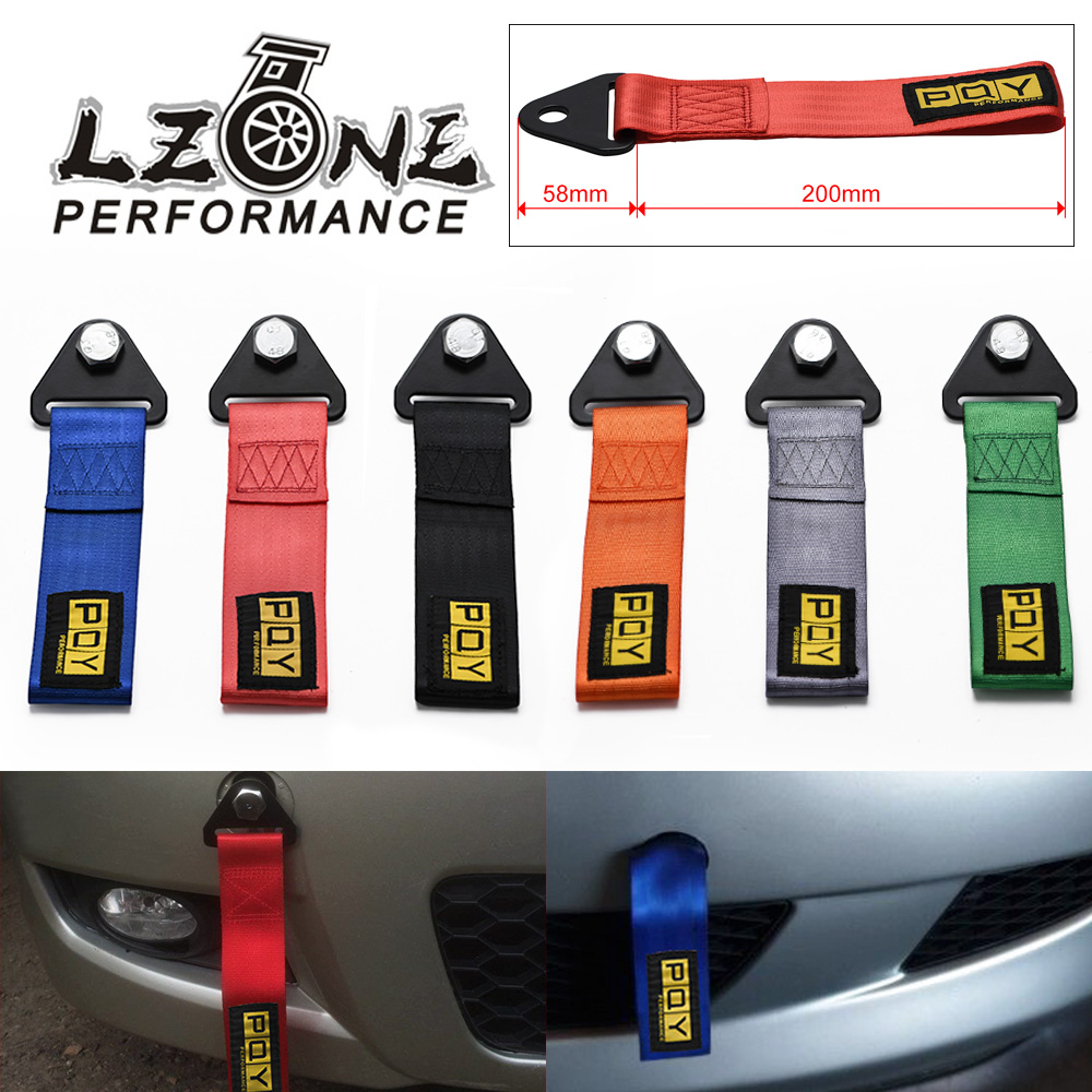 Balight 2 Tons Tow Strap Towing Rope Racing Car Universal Tow Eye Strap Tow Strap Bumper High Strength Nylon Tow Ropes