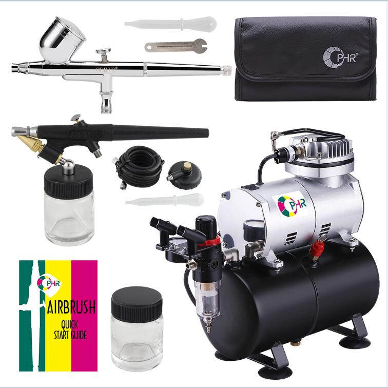 OPHIR NEW Portable Mini Air Compressor with Tank for Hobby Cake Decoration 220V