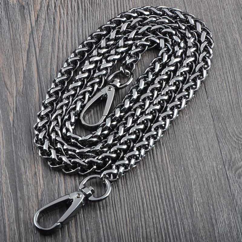 Gunmetal Color Many Sizes Purse Hardware Sac Chaine Bag Parts Metal Chains Accessories For Bag Strap Ornament Shoulder Strap Bag