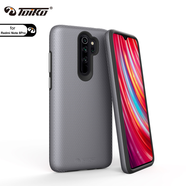 TOIKO X Guard 2 in 1 Shockproof Back Cover for xiaomi Redmi Note 8 Pro Case TPU PC Rugged Armor Protective Phone Accessory Shell
