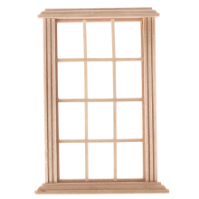 New 1:12 Dollhouse Wooden Window Frame Miniature Doll House Furniture Toys