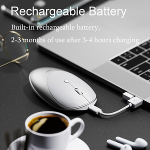 Image 2 - Wireless Mouse Computer Mouse Silent Mause Rechargeable Ergonomic Mouse 2.4Ghz USB Optical Mice For Macbook Laptop PC 3 Colors