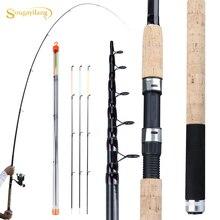 Sougayilang מזין חכת דיג טלסקופים ספינינג/6 סעיפים נסיעות מוט 3.0 3.3 3.6m pesca קרפיון מזין 60 180g מוט דגים להתמודד