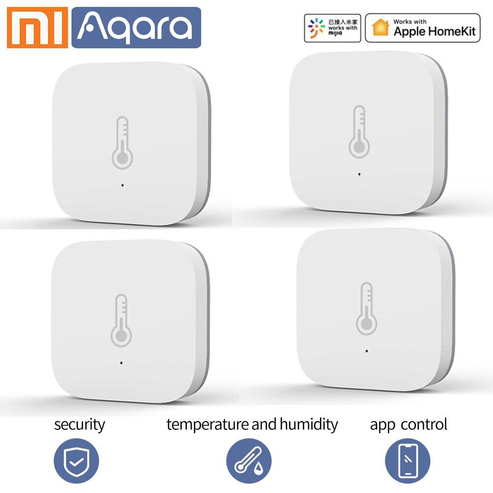 Aqara Smart Temperature Sensor Wifi Thermostat Xiaomi Smart Home Air Pressure Temperature Humidity Zigbee Sensor Mi Home App