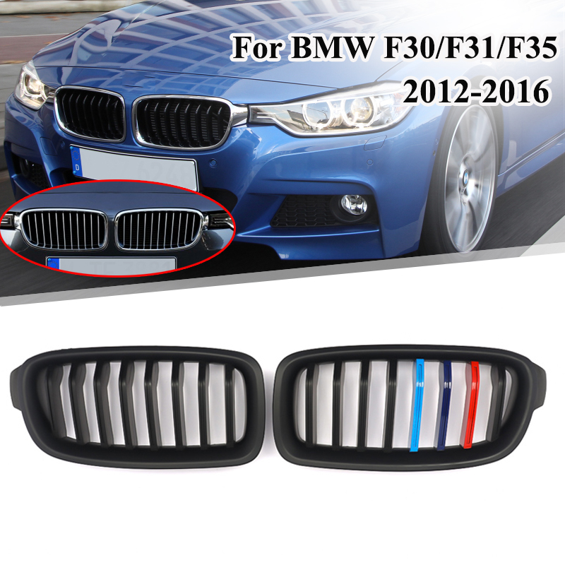 Black Front Bumper Hood Kidney Grille Grill Fit For BMW 3 series F30 F31 F35 320i 325i 328i 335i 2012-2016 Black