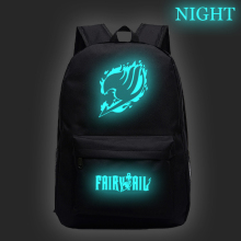 FAIRY TAIL Luminous Backpack School Rucksack New Pattern School Bag Boys Girls Book Knapsack Men Women Laptop Rucksack best gift hcandice new unisex boys girls canvas rucksack backpack school book shoulder bag drop ship bea6613