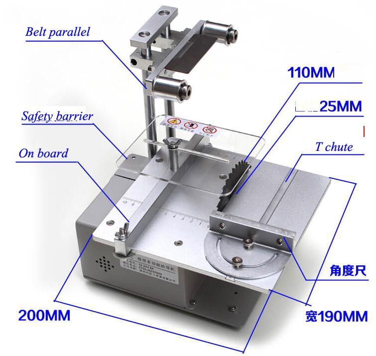 Machine Micro Mini Cutter Precision Woodworking Multi Chainsaw Function DIY Cutting Saws Table Desktop Carpentry Saw Saw