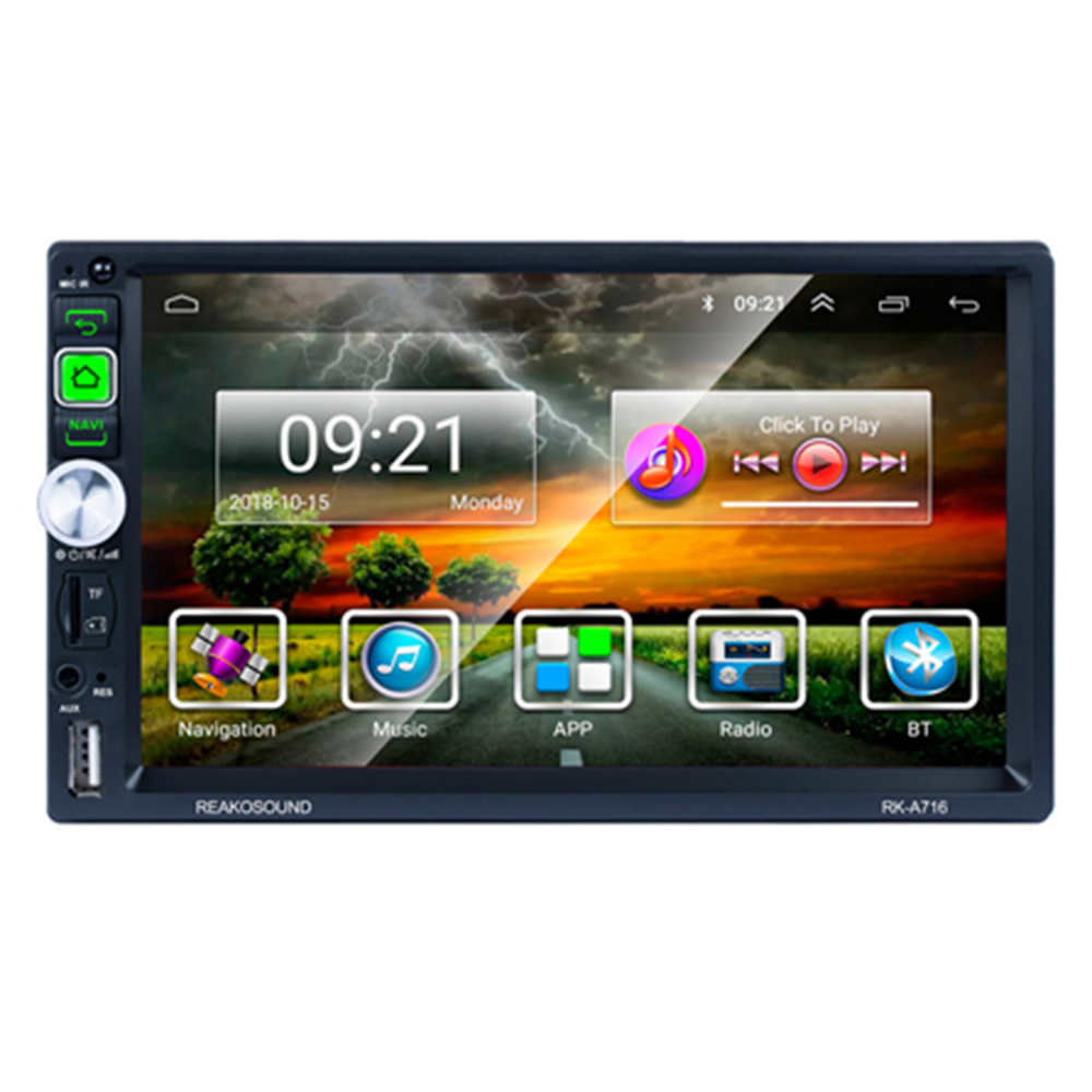 7 inch touch screen GPS navigator media player universal car Android system 2 din head unit car stereo radio
