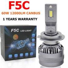 F5C 120W 12000LM H7 LED Bulb LED H7 headlight kit Fog Light H4 H7 H8 H11 H1 9005 9012 Car LED Lamp LED Headlights Bulb