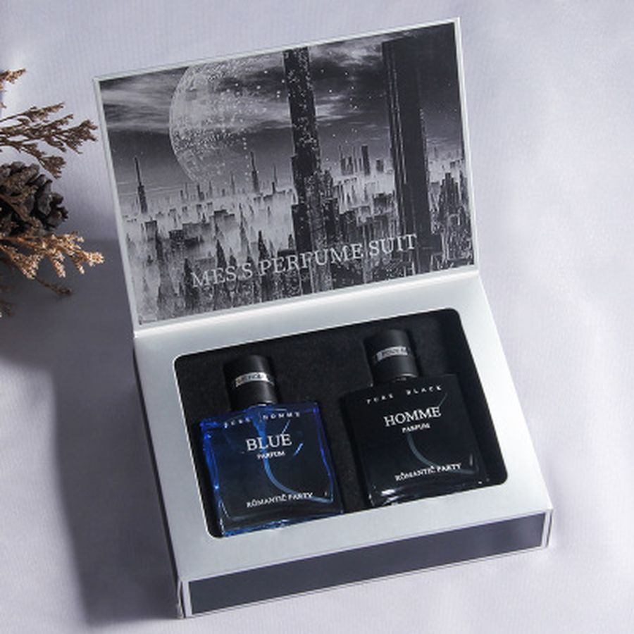 2 Bottles 30ml Original Perfume For Men Long Lasting Fragrance Musk Bottle Male Parfum For Men Perfume Spray Man Gift Box