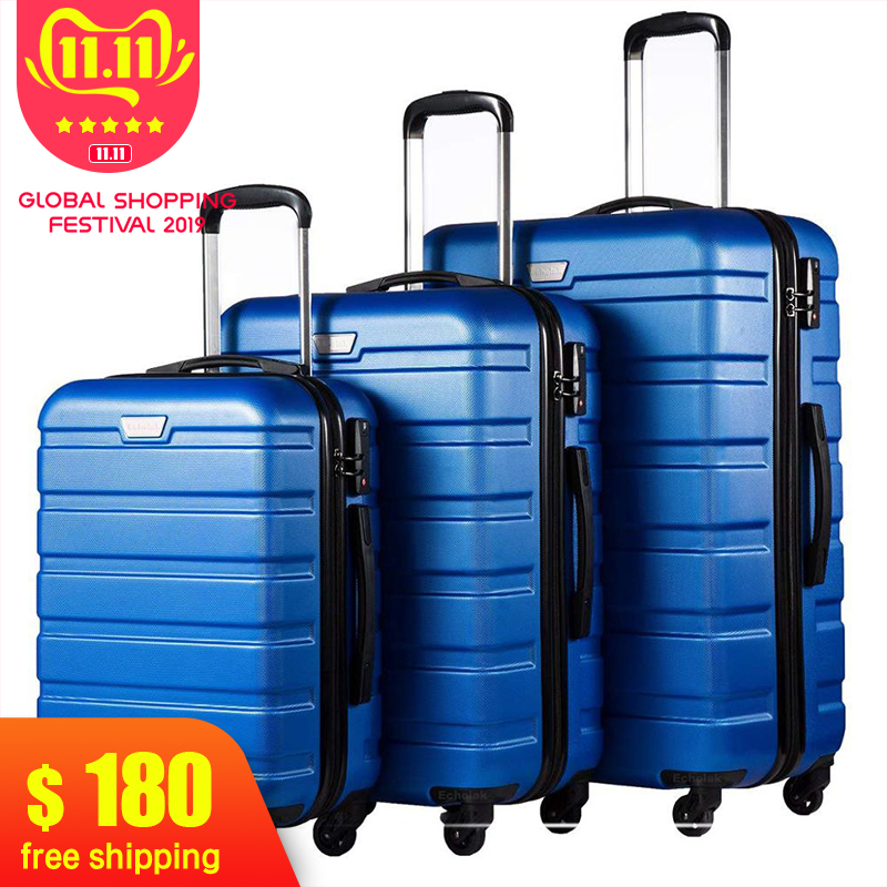 Rolling-Luggage Suitcase Lock-Spinner Carry On Business 3piece-Set Lightweight with High-Strength title=