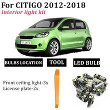 Number-Plate-Lamp Ceiling-Light Citigo-Map Skoda Interior Dome Error-Free Fit-For 6x