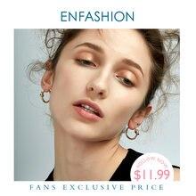 Оптовая продажа классические серьги кольца enfashion с узлом