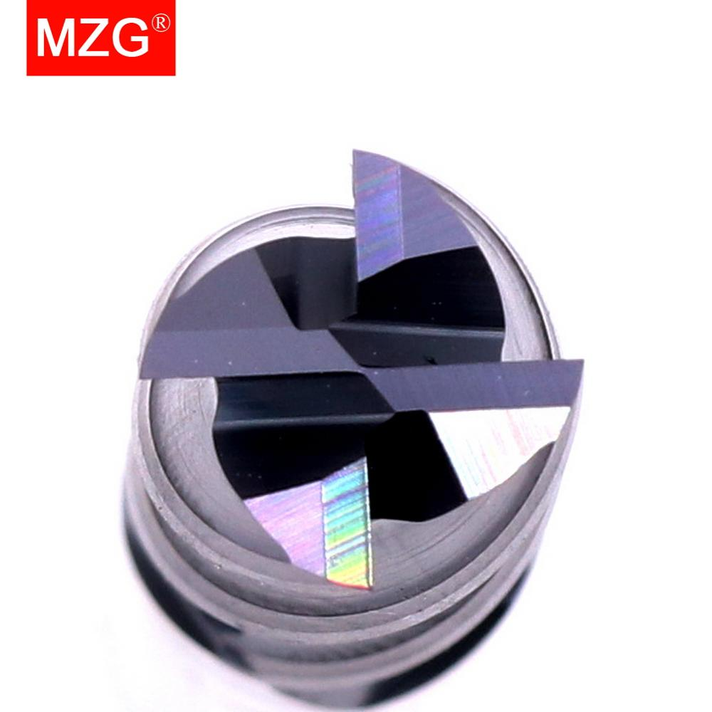 Купить с кэшбэком MZG  Discount Price Cutting HRC50 4 Flute 4mm 5mm 6mm 8mm 12mm Alloy Carbide Milling Tungsten Steel Milling Cutter End Mill