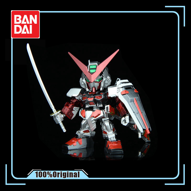 BANDAI 1/200 MBF-P02 <font><b>Gundam</b></font> Astray Metal Colored <font><b>BB</b></font> Soldier Series EX Q Assembly Model Doll Gift Action Toy Figures image