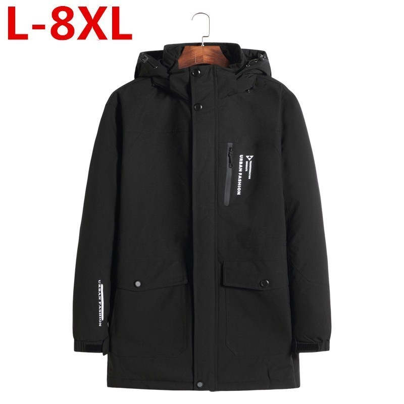 Plus Size  8XL 6XL  New Autumnal Men's Jacket Short Casual Coat Overcoat Hooded Man Jackets High Quality Fabric Men's Cotton