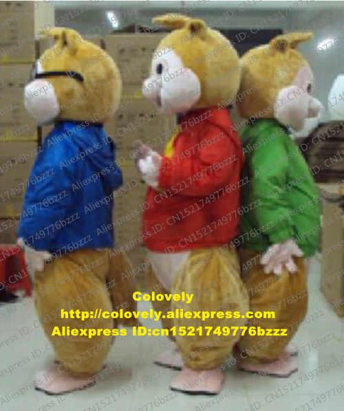 Baru Alvin dan Tupai Maskot Kostum Dewasa Kartun Karakter Pakaian Tahap Properti Cosplay Kostum CX019 Gratis Shiping
