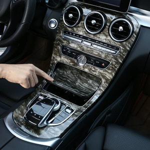 Для Mercedes Benz C class W205 2015-2017/GLC X253 2016-2017 декоративная панель для центральной консоли отделка из углеродного волокна цвет 2 шт