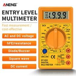 Nowy profesjonalny multimetr cyfrowy DT832 LCD AC/DC woltomierz amperomierz miernik rezystancji wielofunkcyjny