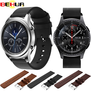 Ремешок из натуральной кожи 22 мм для samsung gear S3 Frontier/Classic Galaxy Smart Watch 46 мм запасной браслет ремешок для часов