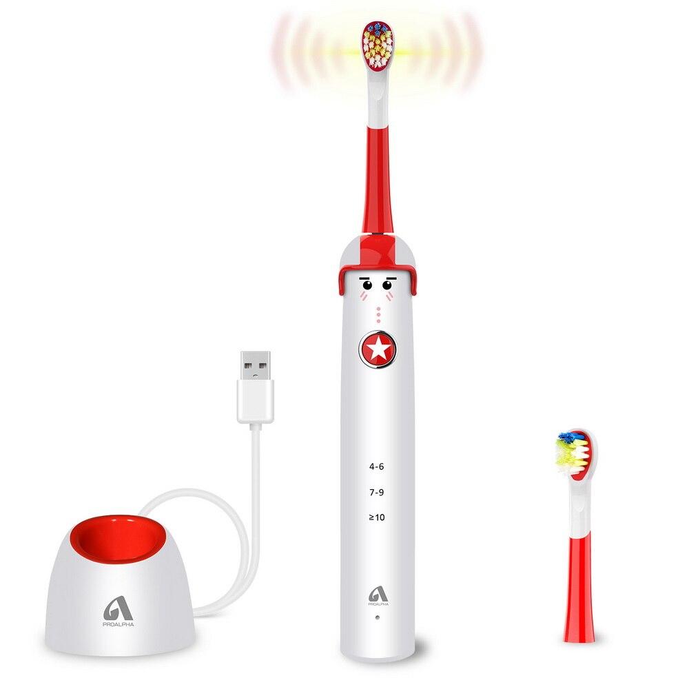 criancas escovas de dentes eletrica recarregavel proalpha s301 escova de dentes para criancas eletronico lavavel branqueamento