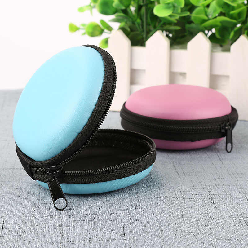 1pc EVA Earphone Box Coin Purse Headphone Data Cable Case Storage Organizer Wallet Protective Bag Container Earphone Accessories