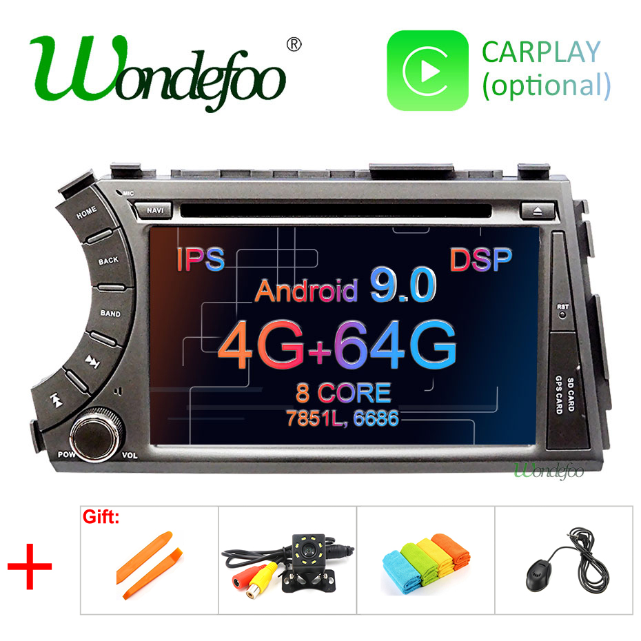 Android 9 0 4G RAM 64G ROM DSP IPS AV Output CAR GPS For Ssang yong