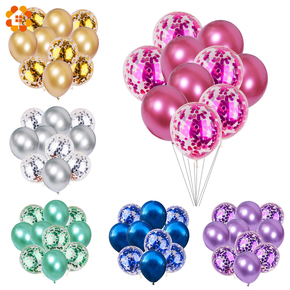 10pcs 12inch Wedding Latex Balloons Metallic Inflatable Birthday Balloon