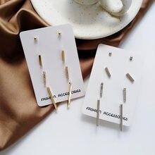 Pendientes minimalistas con forma de oreja de viento, mini pendientes geométricos de cuatro piezas con personalidad