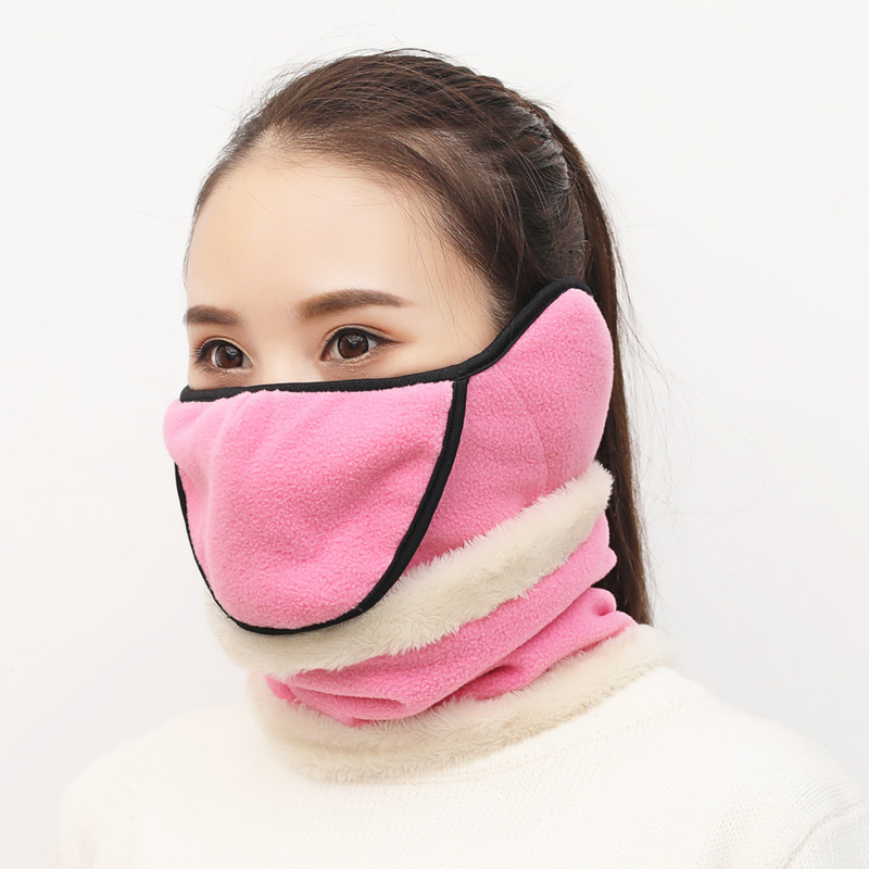 Winter Thermal Bike Half Face Mask Outdoor Sports Snowboard Skiing Cycling Warm Protective Mask Neck Sleeve Windproof Dustproof