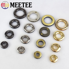 5pcs/20pcs Meetee Metal O D Ring Buckles Eyelet Screw  for Bag Belt Strap Dog Chain Buckle Clasp  Accessories Leather Craft 20pcs lot spring gate d o ring openable keyring leather bag belt strap dog chain buckle snap clasp clip trigger accessories diy