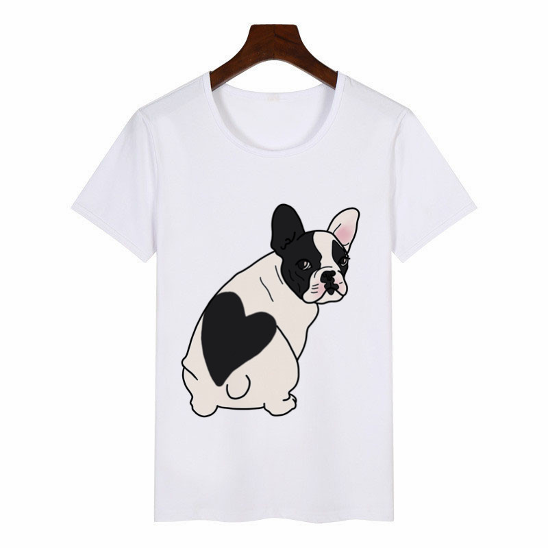 2019 New Summer Women's T-Shirt French Bulldog Graphic Tees Women Harajuku T-Shirt Anime Female Tops Aesthetic Clothes