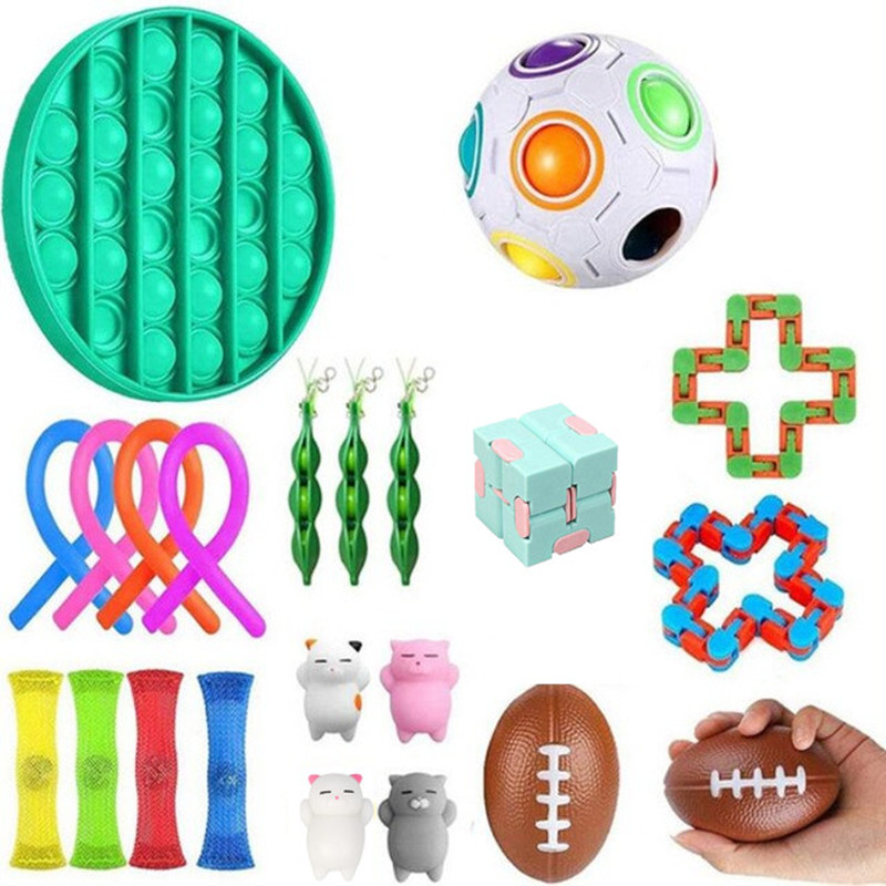 Fitget Toy Toy-Pack Fidget-Toys Antiestres-Chain Work-Stress Relieve Puzzle Sensory Adult img2