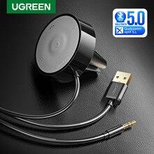 UGREEN-Kit de receptor aptX LL Bluetooth 5,0, Adaptador de Audio, micrófono, 3M, Base magnética, Clip de rejilla de ventilación, Cargador USB Dual para coche