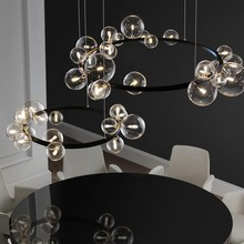 LED Chandelier Lamps Interior-Decoration Modern-Ring Dining-Room Nordic-Style Home-Design