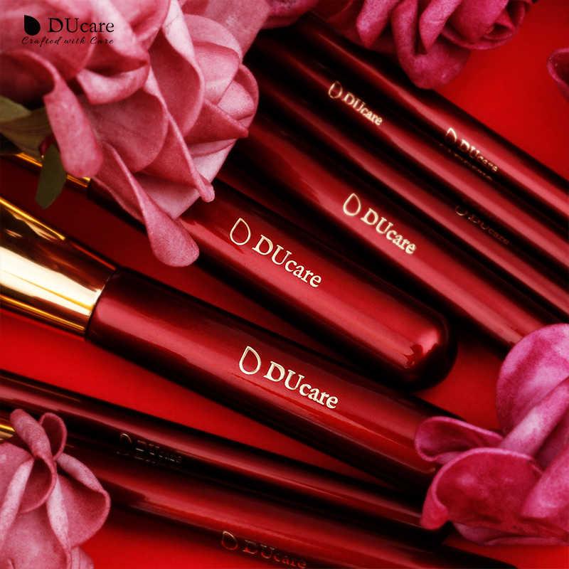 DUcare 8 pièces pinceaux de maquillage ensemble avec sac ombre à paupières fond de teint poudre Contour maquillage brosse cosmétique trousse à outils de beauté