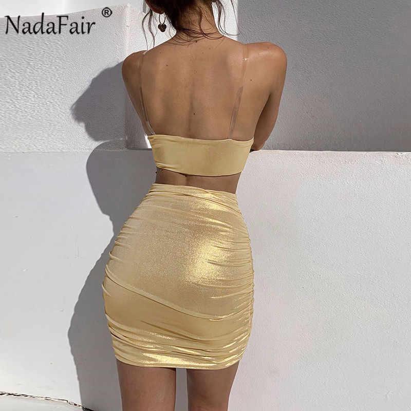 Nadafair Ruched обтягивающая одежда для клубной вечеринки платье женский сарафан без рукавов сексуальное летнее платье Короткое приталенное платье