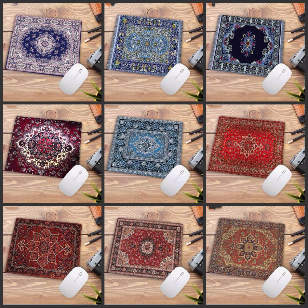 Big Promotion Waterproof Persian carpet rubber non slip laptop gaming Small mouse pad for CSGO dota LOL 220*180*2mm-in Mouse Pads from Computer & Office
