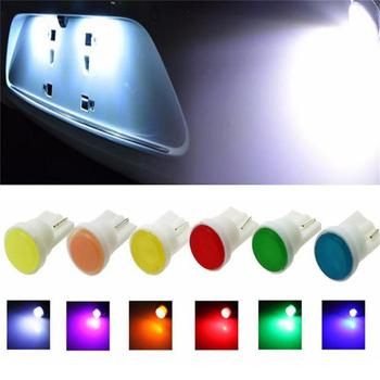 10pcs Ceramic Car Interior LED T10 COB W5W 168 Wedge Door Instrument Side Bulb Lamp Car Light White/Blue/Green/Red/Yellow Source image