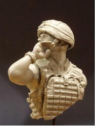 1/12 soldado britânico resina busto kit de construção