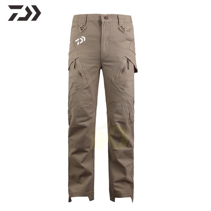 Daiwa Pants Men Tactical Breathable Solid Fishing Pants Spring Autumn Casual Outdoor Hiking Sportswear Fishing Clothing Men