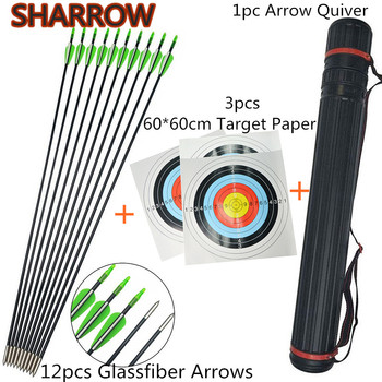 40lbs Adult Archery Straight Takedown Recurve Bow RH With 5pcs Fiberglass Arrows Arrow Tube For Shooting Practice Accessories