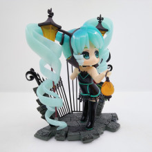 Game VOCALOID Hatsune Miku Street Lamp Feat Ver PVC Model Collection Decoration Lovely Anime Action Figure Toy Brinquedos 14cm anime vocaloid hatsune miku figma ex 037 twinkle snow ver figma 307 pvc action figures collectible model kids toys doll 14cm