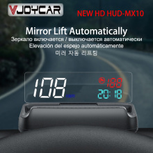 Mirror HUD Projector Head-Up-Display Windshield-Speed OBD2 Clock-Oil-Consumption Automatic