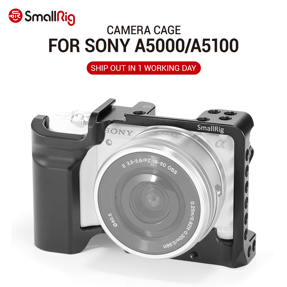 SmallRig Camera Cage for SONY A5000 / A5100 with Shoe Mount Thread Holes for Microphone Monitor Attach for Vlogging 2226 image